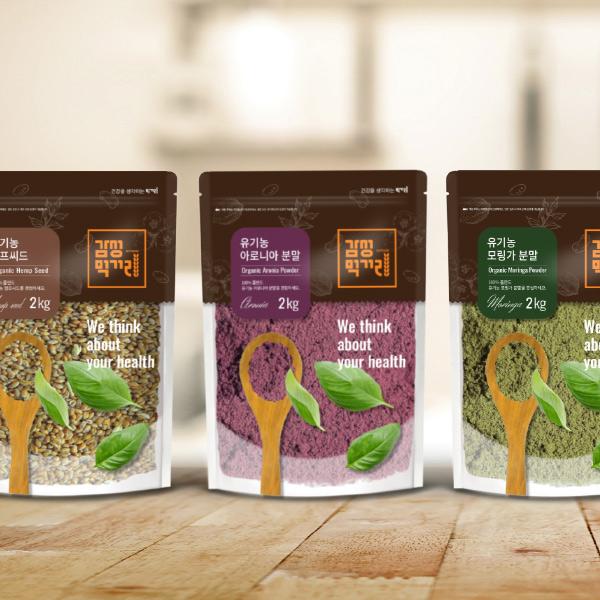 패키지 디자인 | 곡물, 콩, 견과류 포장지 | 라우드소싱 포트폴리오