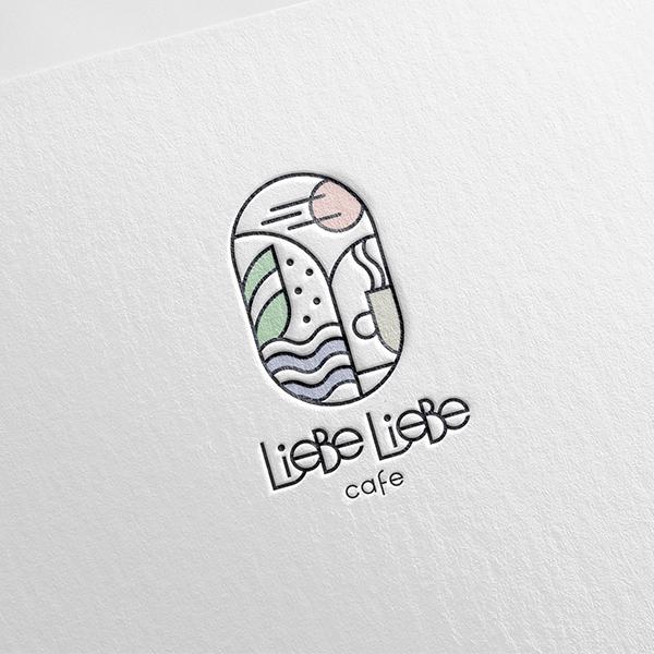 로고 + 간판 | cafe liebeliebe | 라우드소싱 포트폴리오