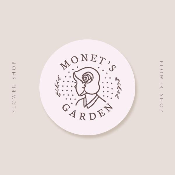 로고 + 명함 | Monet's garden  | 라우드소싱 포트폴리오