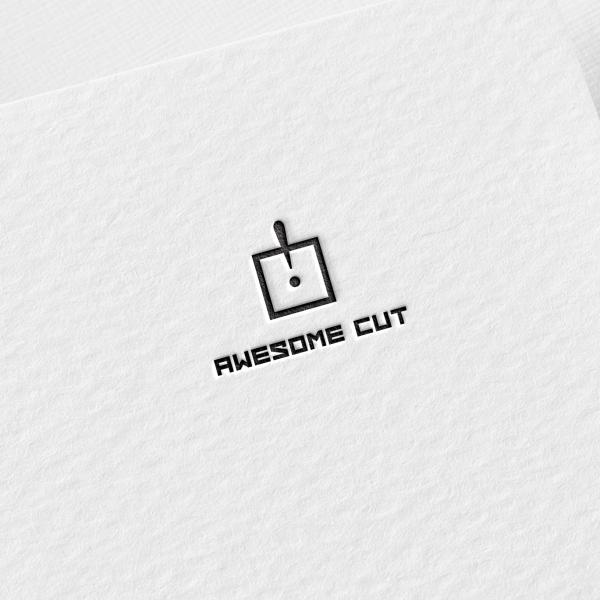 로고 + 명함   Awesome Cut   라우드소싱 포트폴리오