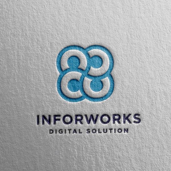 로고 + 명함 | 인포웍스닷컴 주식회사 (INF... | 라우드소싱 포트폴리오
