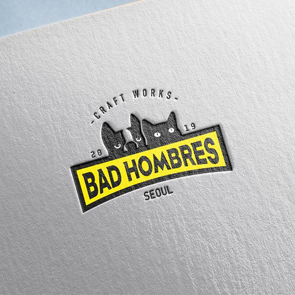 로고 디자인   BAD HOMBRES   라우드소싱 포트폴리오
