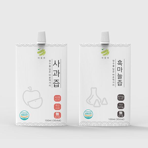 패키지 디자인 | 애플레 과즙음료 패키지디자인 | 라우드소싱 포트폴리오