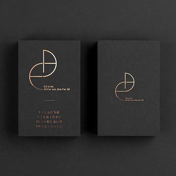 로고 + 명함 | 주식회사 O.F.A | 라우드소싱 포트폴리오