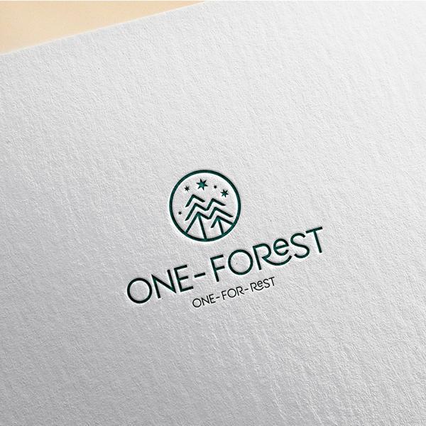 로고 + 간판   원 포레스트   라우드소싱 포트폴리오