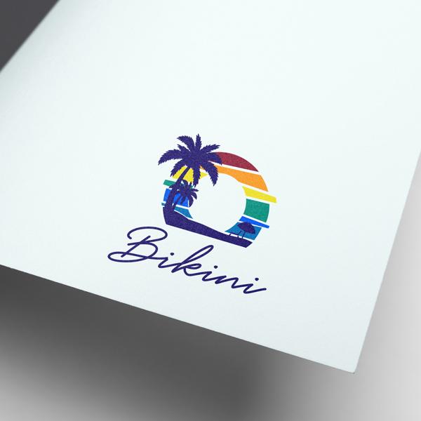 로고 + 간판 | 비키니 감성주점 로고 간... | 라우드소싱 포트폴리오
