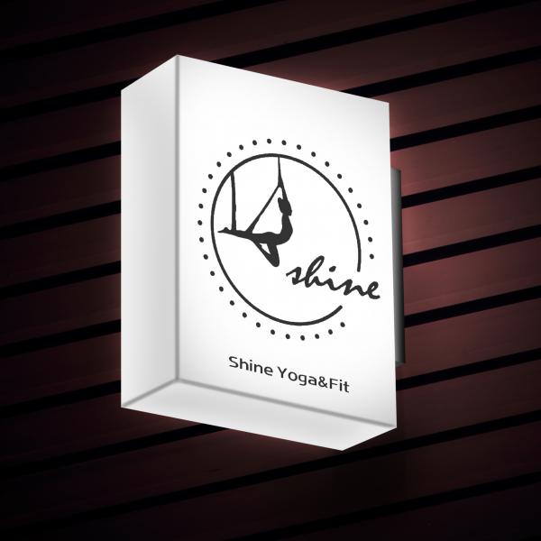 로고 + 간판   샤인 요가 앤 핏   라우드소싱 포트폴리오