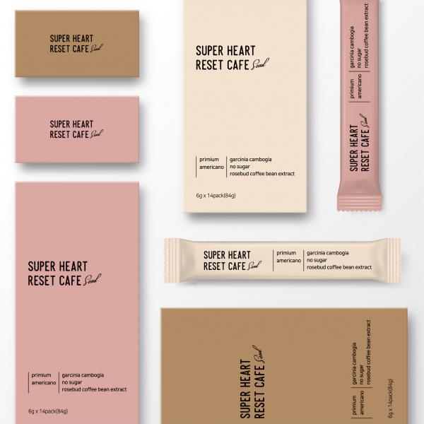 패키지 디자인   슈퍼하트 다이어트커피 패...   라우드소싱 포트폴리오