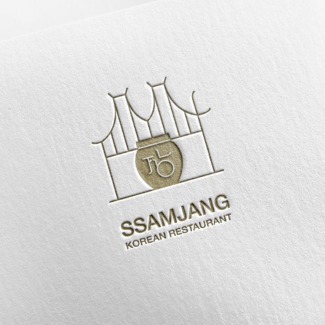 로고 + 간판 | SSAMJANG Korean ... | 라우드소싱 포트폴리오
