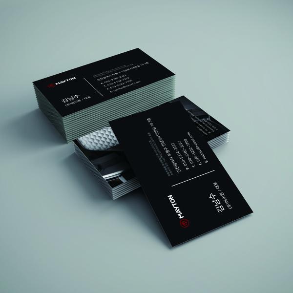 명함 / 봉투 | (주)메이튼 명함 디자인 제작 | 라우드소싱 포트폴리오