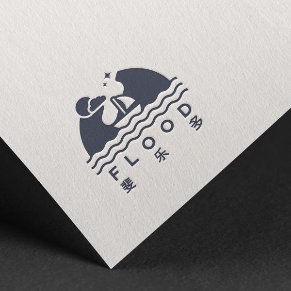 로고 + 간판 | CAFE FLOOD �... | 라우드소싱 포트폴리오