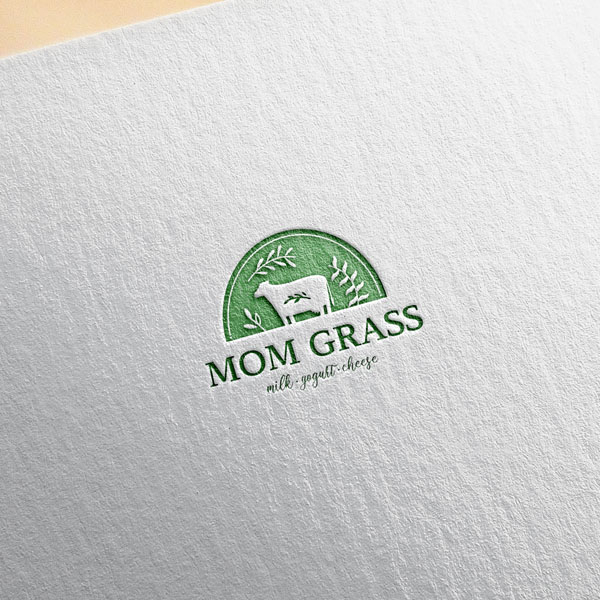 로고 디자인   MOM GRASS 로고 ...   라우드소싱 포트폴리오