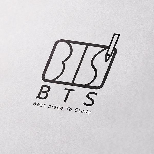 로고 디자인   BTS 스터디카페 로고 ...   라우드소싱 포트폴리오