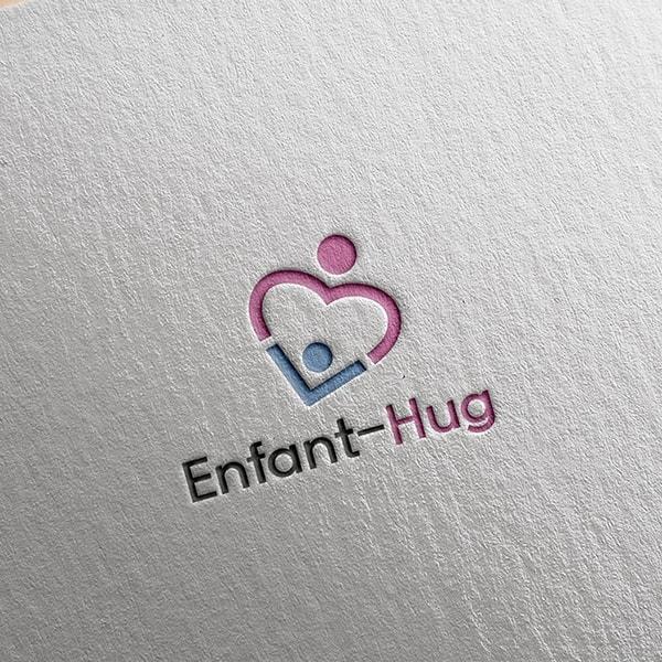 로고 디자인 | `앙팡허그` 로고 디자인 의뢰 | 라우드소싱 포트폴리오