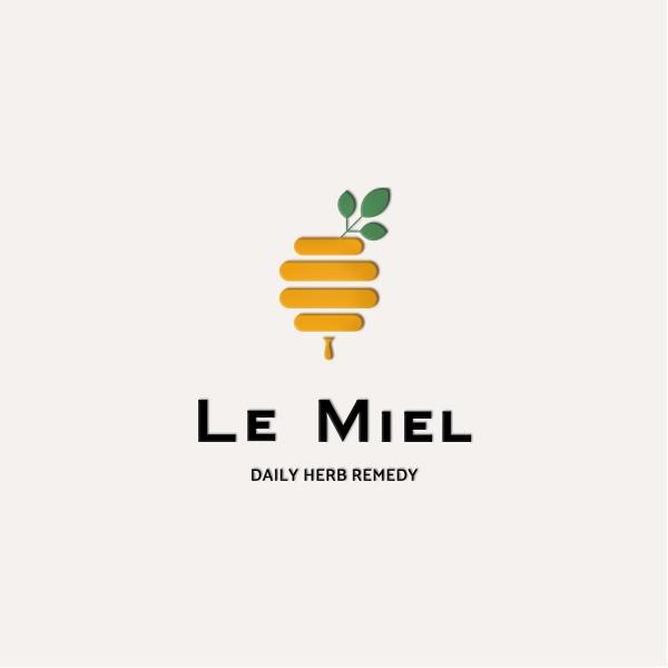 로고 디자인   Le Miel 로고   라우드소싱 포트폴리오
