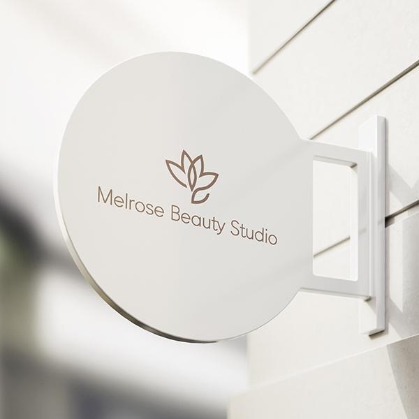 로고 + 명함 | 뷰티샵 멜로즈뷰티(Mel... | 라우드소싱 포트폴리오