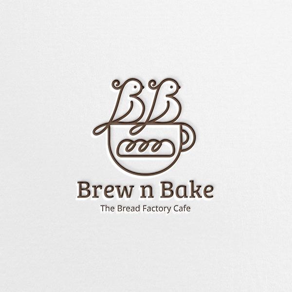 로고 + 간판   Brew n Bake    라우드소싱 포트폴리오