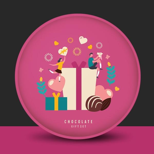 패키지 디자인 | 초콜릿 선물세트 디자인 의뢰 | 라우드소싱 포트폴리오