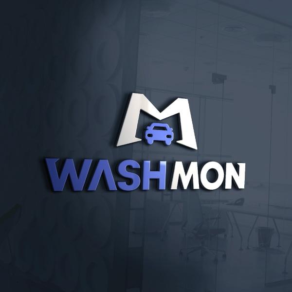 로고 + 간판 | 워시몬(WASH MON) | 라우드소싱 포트폴리오