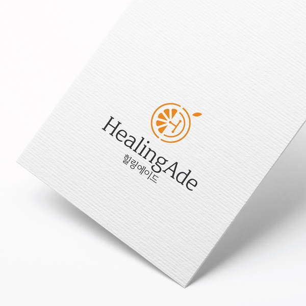 로고 + 명함   힐링에이드 로고 디자인 ...   라우드소싱 포트폴리오