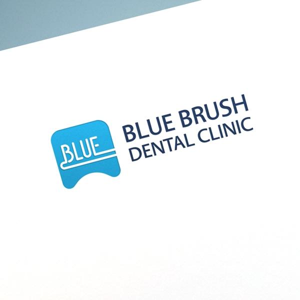 로고 + 명함 |  Blue Brush Dental | 라우드소싱 포트폴리오