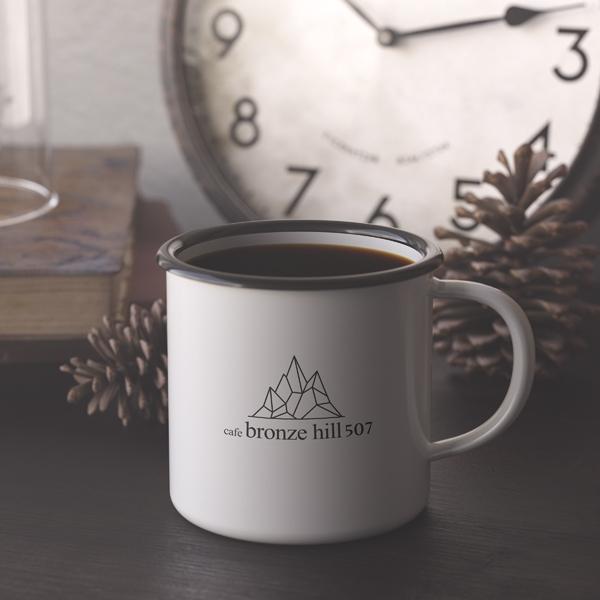 로고 + 간판 | cafe bronze hill... | 라우드소싱 포트폴리오
