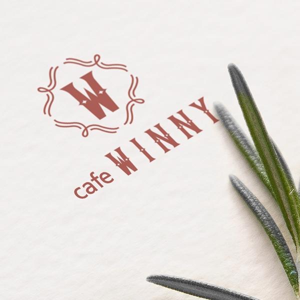 로고 + 간판 | cafe WINNY | 라우드소싱 포트폴리오