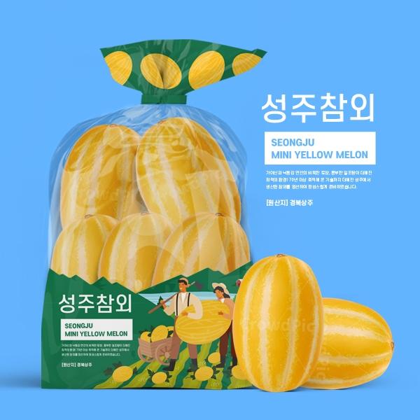 패키지 디자인   참외 비닐 포장지 디자인 의뢰   라우드소싱 포트폴리오