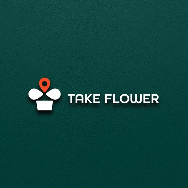 로고 + 명함 | 테이크플라워 로고 디자인 의뢰 | 라우드소싱 포트폴리오