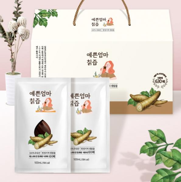 패키지 디자인 | 예쁜엄마 칡즙 파우치&박... | 라우드소싱 포트폴리오