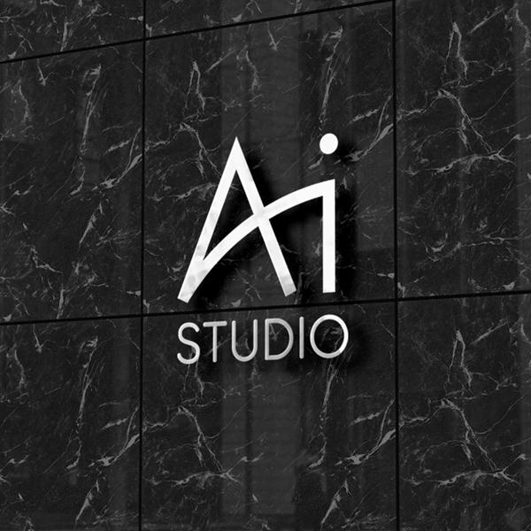 로고 + 간판 | AI Studio 로고 디자인 | 라우드소싱 포트폴리오