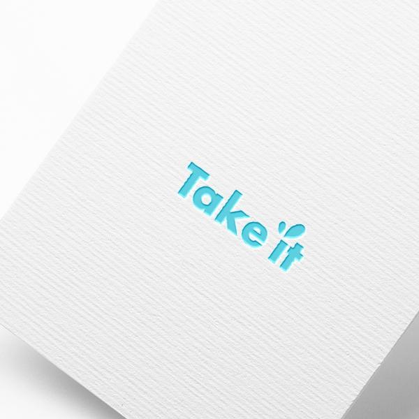 로고 디자인 | TAKE IT 로고 제작  | 라우드소싱 포트폴리오