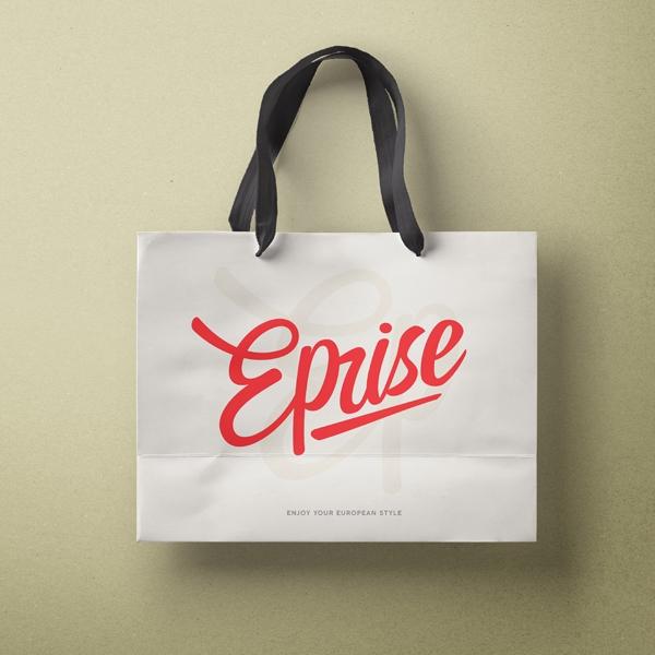 로고 + 간판 | Eprise 의류매장 로... | 라우드소싱 포트폴리오