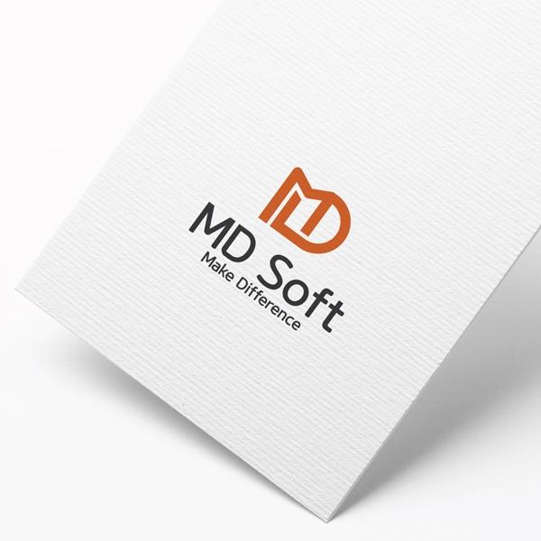 로고 디자인 | MD Soft 로고디자인 의뢰 | 라우드소싱 포트폴리오