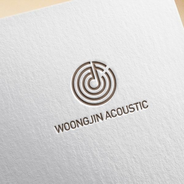 로고 + 명함 | 웅진음향 로고 디자인 의뢰 | 라우드소싱 포트폴리오
