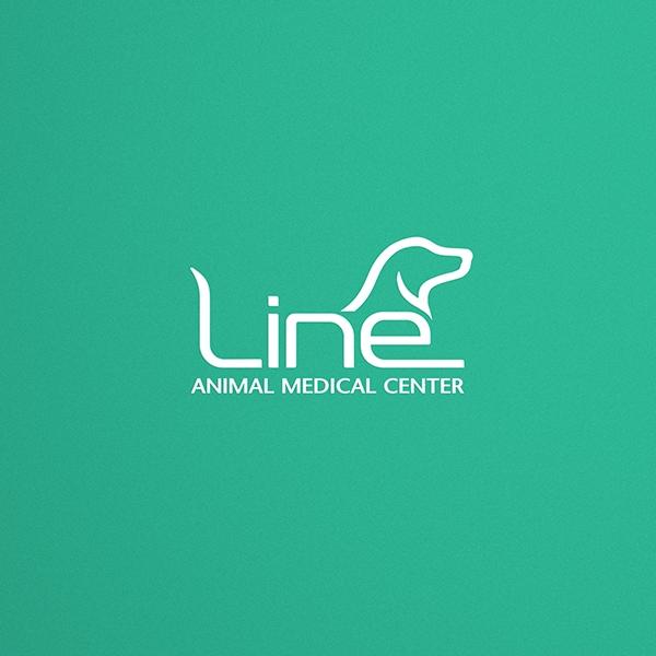 로고 디자인 | 라인동물의료센터 로고 디... | 라우드소싱 포트폴리오
