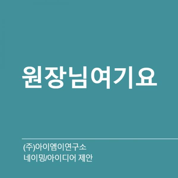 네이밍 / 아이디어 | (주)아이엠이연구소 | 라우드소싱 포트폴리오
