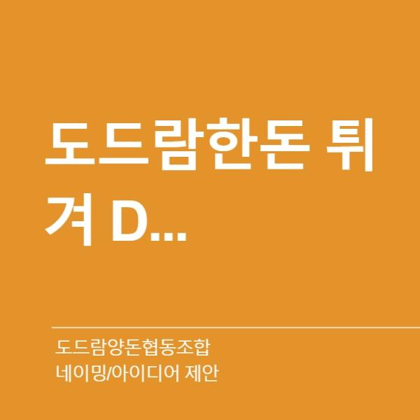 네이밍 / 아이디어 | 도드람양돈협동조합 | 라우드소싱 포트폴리오