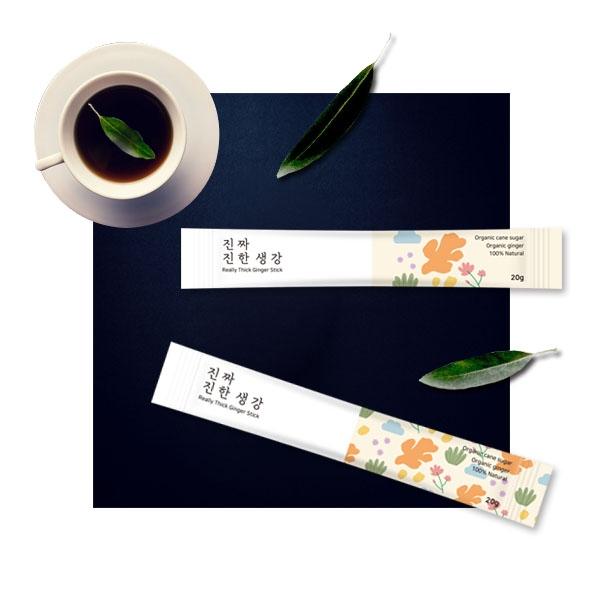 패키지 디자인 | 생강청 스틱 디자인 및 ... | 라우드소싱 포트폴리오