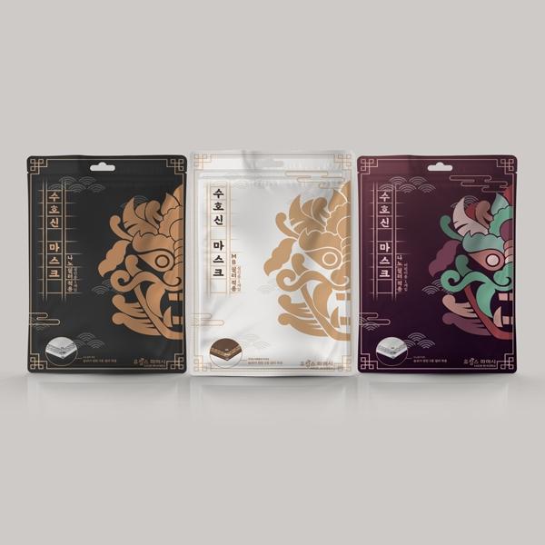 패키지 디자인 | 마스크 포장지 디자인 | 라우드소싱 포트폴리오
