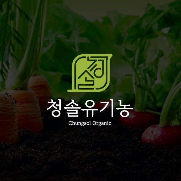 로고 디자인 | 청솔유기농영농조합법인 | 라우드소싱 포트폴리오