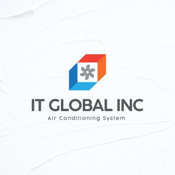 로고 + 명함 | 에어컨/냉난방기 설치 업... | 라우드소싱 포트폴리오